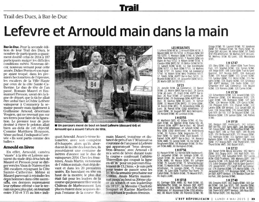 L'est Sports 04-05-2015